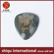 Yiwu engraved semi-precious green guitar pick in guitar parts guitar pick up