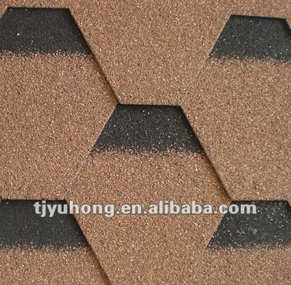 Desert Tan color mosaic asphalt shingles / roofing tile