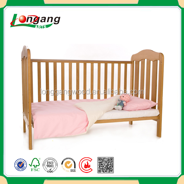 Natural Wood Color Baby Beds Kids Bed