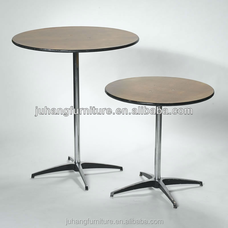 Hotel wooden banquet portable folding cocktail table
