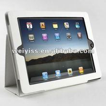 2013 rotating stand leather case for ipad 2 and ipad 3 with hand holder