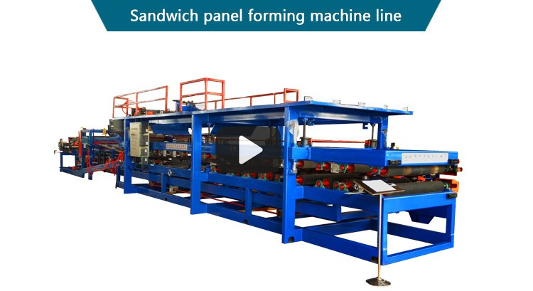 Best quality eps sandwich wall panel roll forming machine production line in China