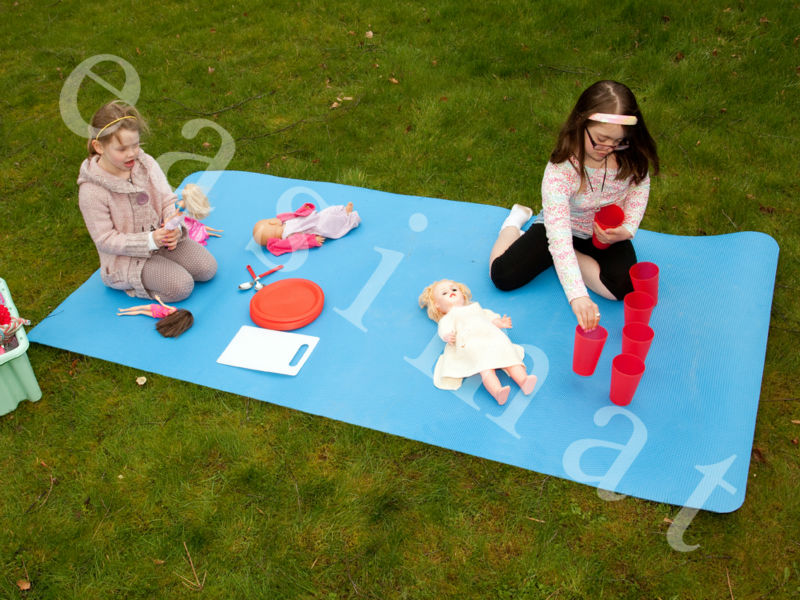 Gym Exercise Equipment Protective Foam Play Mat Blue Sport Large Flooring