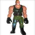 small plastic muscular soldier figure