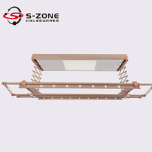 S-zone aluminium electric ceiling clothes drying rack