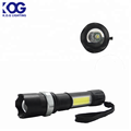 LED +COB Double light bulb torch Power rechargeable zoom flashlight easy to carry