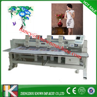 6 Heads Computer flat embroidery machine rhinestone machine for sale