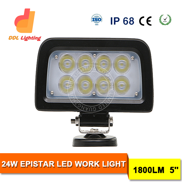 24W Epistar WORK LIGHT offroad 5inch led driving work light scooters snowmobiles ATVs UTVs RVs