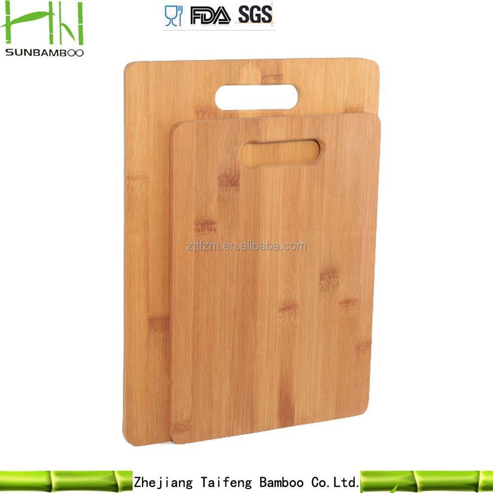 Hot sell 2-piece Bamboo Chopping Board with handle cutting board