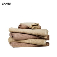 Luxury/cleaning/manufacture satin/plain hotel/home 6 piece square/hand/beach/foot/bath towel set set with embroidery/logo