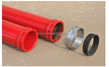 DN125 5+2mm double wall concrete pump pipe for PM,SCHWING,SANY