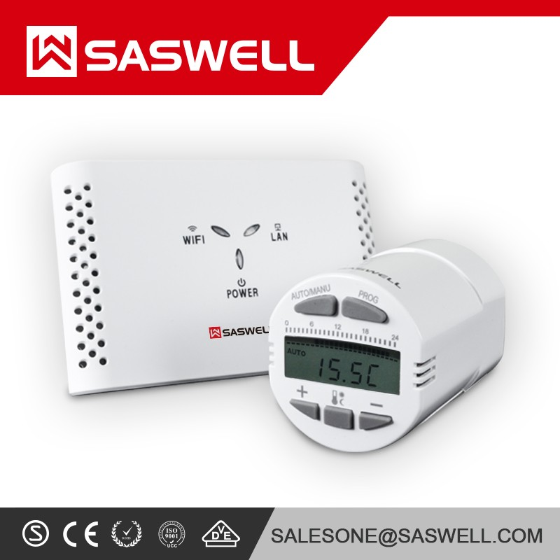 DIGITAL PROGRAMMABLE WIRELESS ROOM THERMOSTAT + NEW TRV RADIATOR VALVE HEAD