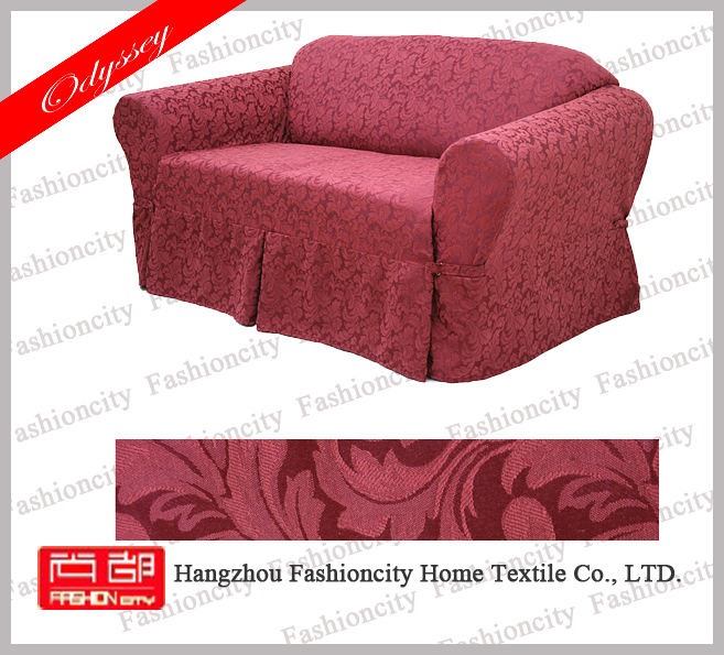 New design luxury polyester anti slip recliner sofa cover