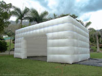 Inflatable lawn tent Large Inflatable tent inflatable cube tent white color