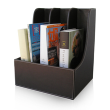 A4 A5 Leather Storage box File Document Tray