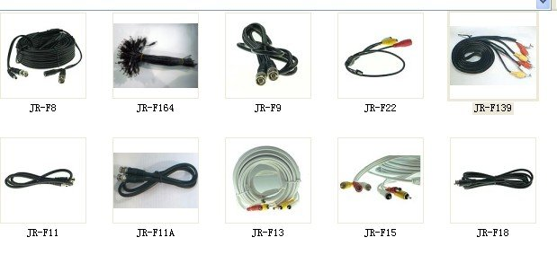 Video Power Cable( dc+bnc+rca)