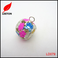 Decorative metal colorful christmas jingle bell