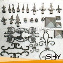 Fence gate accessories ornaments parts wrought iron wholesale