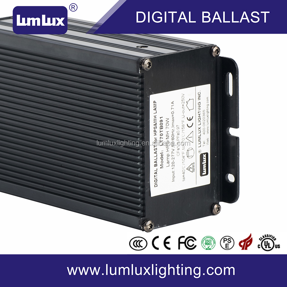70W 0-10V dimming HID/MH/HPS digital electronic ballast
