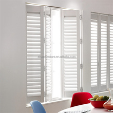 German interior wood plantation hinged window shutters