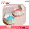 S4116 PRZY Cradle candle silicone mold cute gifts handmade soap mold cake decorations