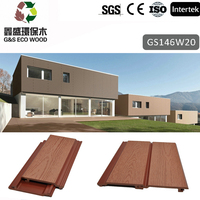 High Quality Outdoor Waterproof pvc wood plastic exterior wall cladding Siding
