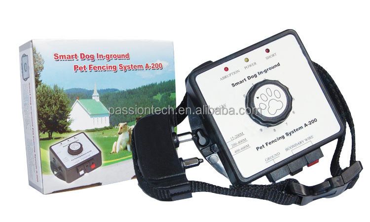 Pet tech 2015 New A200 Smart Pet In-ground Dog Fencing system from China Supplier