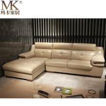 Living Room Furnitures Simple Wooden l Leather Sofa Sets Designs, Meubles de Wooden Sofa Legs turque