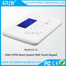 2015 Hot sell!! Hi-Tech diy install gsm based burglar alarm system with bettery/sensor low voltage sms alert