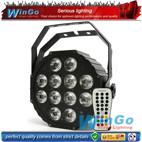 wedding decoration led uplight 12pcs*15w mini IRC flat par led stage light par64