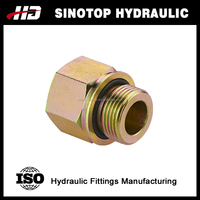 5GB Hydraulic fittings BSP MALE /BSP FEMALE union straight adapter from Ningbo factory