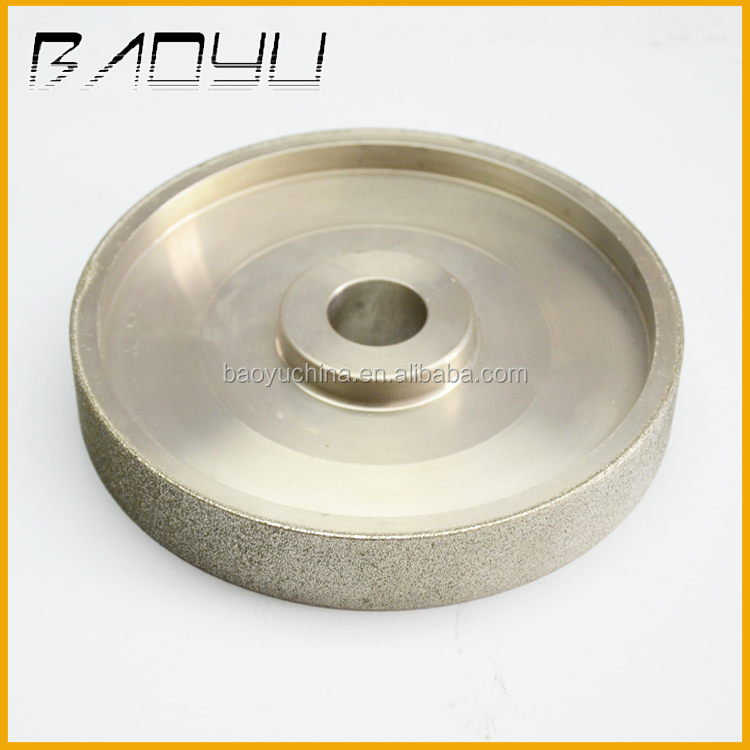 Gemstone Metal Grinding and Polishing use Steel and Plastic Center Core 6'' Diamond Coated Flat Lap Wheel Lapidary