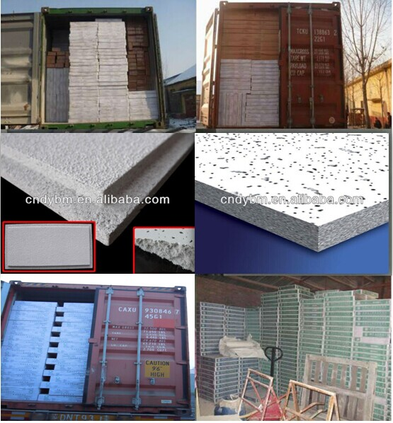 CE certificate fireproof building material mineral fiber ceiling board