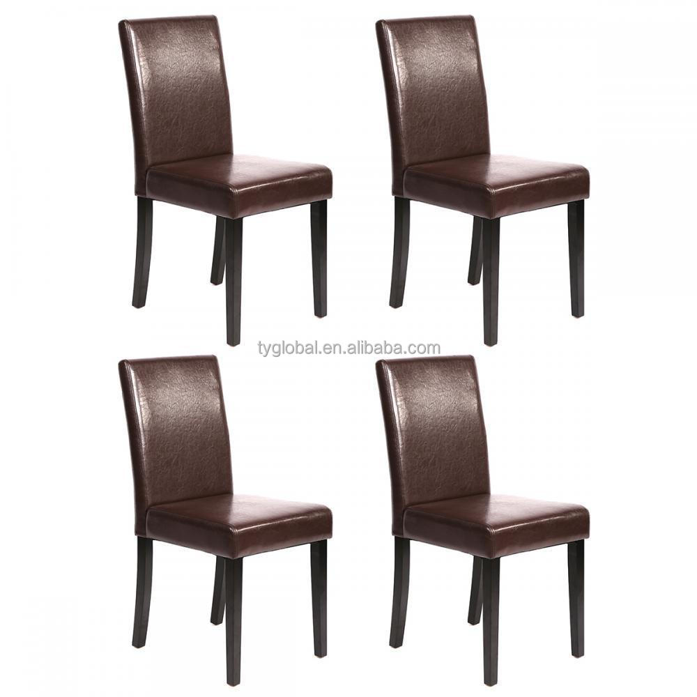 TY Best leather Dining Room Chair with Rubber Wood Leg