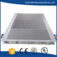 Serviceable plate fin type air compressor heat exchangers