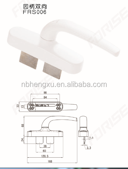 CURTAIN (wall) Round base Door &Window Handle FRS006