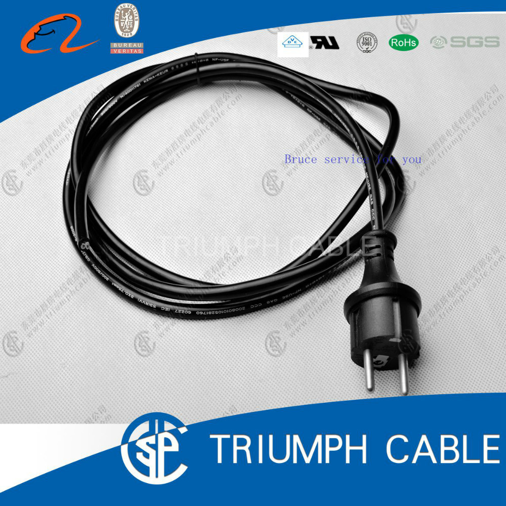 Cream colour German French AC power cord right angle schuko plug to right angle C7 connector power cable