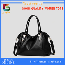 French Designer Branded Fashion Good Quality Made In China Classy Tote Shoulder Black Vintage Large Leather Bag