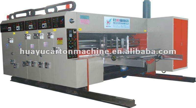 HUAYU-C series automatic carton printer slotter rotary die cutter machine,Sun feeding