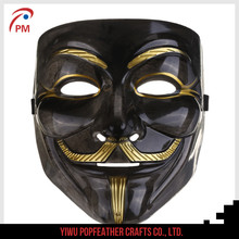 PM-006 Black V for Vendetta mask anonymous mask for Halloween Party