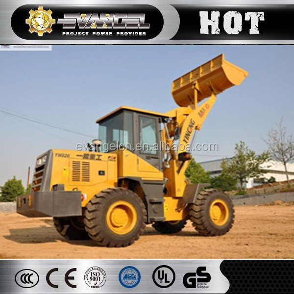Cheap wheel loader China 2 ton mini wheel loader YL926 with 1.1m3 bucket