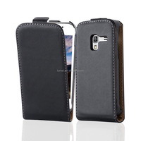 Premium Luxury Commercial Flip Genuine Leather Phone Case Cover For Samsung Galaxy Ace Plus S7500