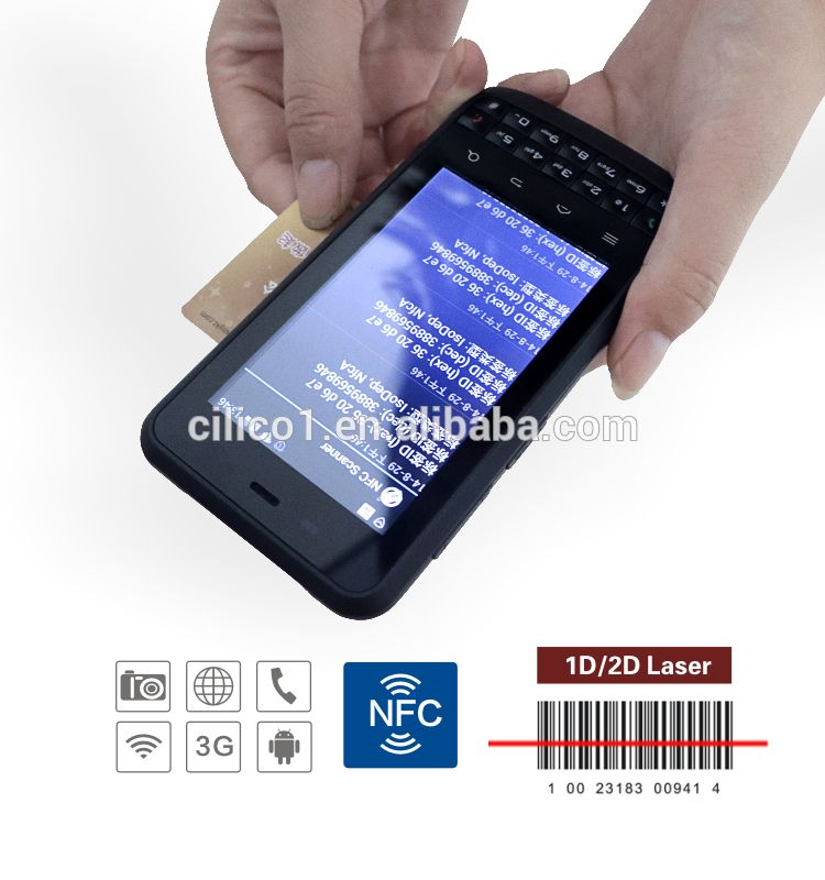 pda <strong>phone</strong> cilico <strong>android</strong> industrial courier mobile <strong>phone</strong> with 3.8inch display touch screen handheld pda barcode scanner