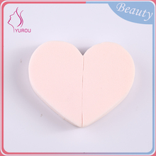 Custom factory supplier yes washable love shape cosmetics sponge