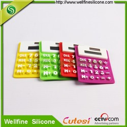 Flexible Silicone Calculator with Solar Panel