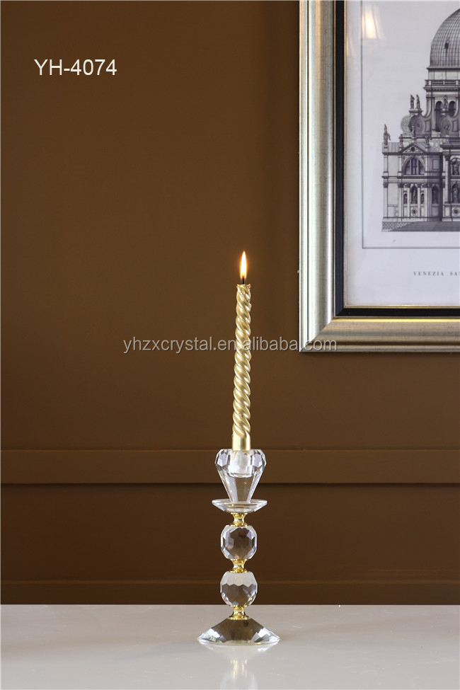 NEW! Lovely Wedding Table Decoration Small Crystal Candelabra