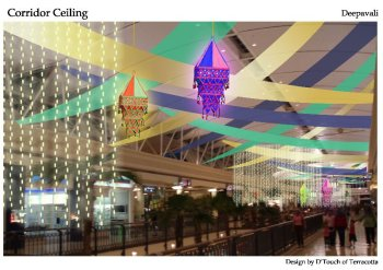 mall's deepavali decor