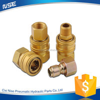 Made in china hot sale no valve hydraulic brass fitting quick release coupling
