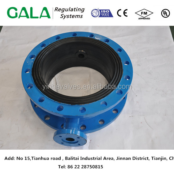 ductile iron/GGG40 body /double flanged butterfly valves casting