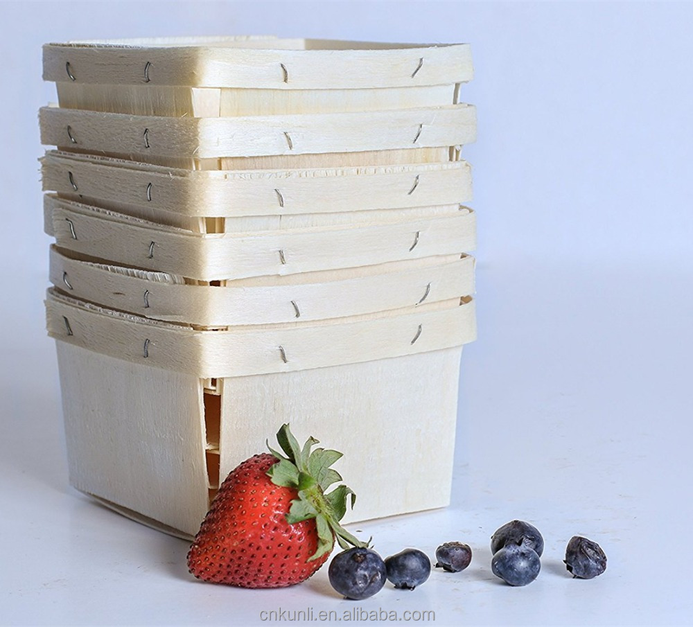 Berry Baskets Wooden Berry Boxes Perfect for Fruit Picking Arts & Crafts or Gift Baskets